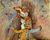 نخ و نقشه آثار نقاشان ایرانی کد NK-IR2-17